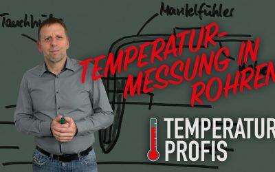 Messung der Durchflusstemperatur in Rohren