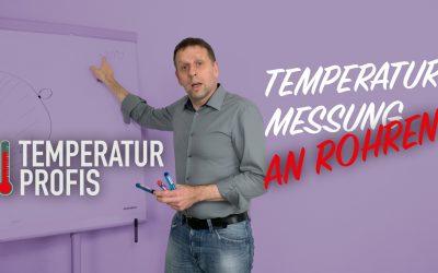 Messung der Oberflächentemperatur an Rohren