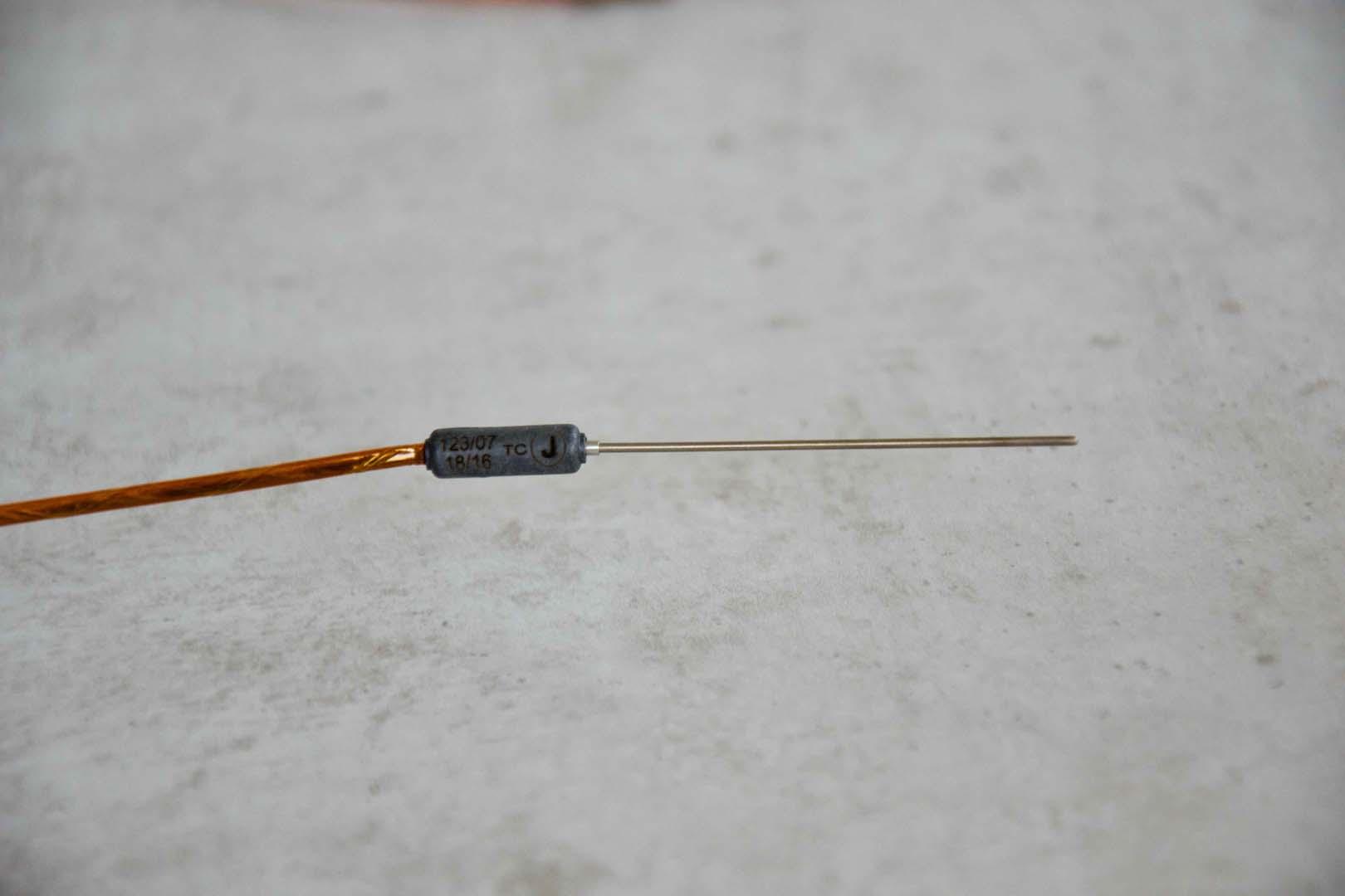 Mantelthermoelement mit Kapton-Kabel und 1,5 mm Durchmesser