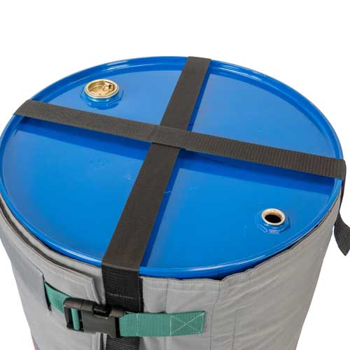Befestigungsbänder oder Haken erleichtern die Montage des Fassheizers und sorgen für einen sicheren Sitz am Fass