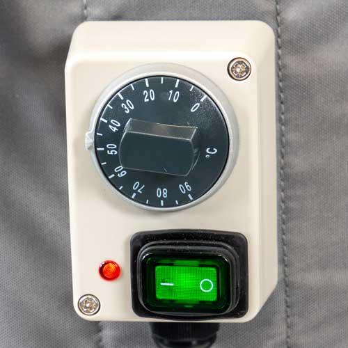 Ein Sicherheitsthermostat sorgt dafür, dass Ihre Fassheizung besonders sicher ist
