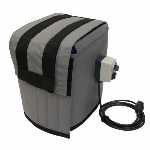 heizmantel für 30l kanister mit geschlossenem isolierdeckel und kapillarrohrthermostat