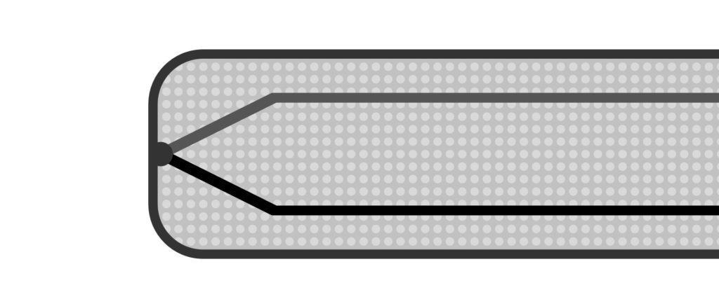 Geerdetes Mantel-Thermoelement im Längsschnitt